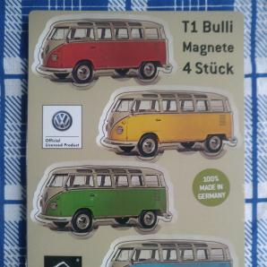 WERKHAUS Magnete VW T1 - 4-er Set - zweifarbige Bullis