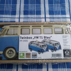 """WERKHAUS Twinbox """"VW T1 Blau"""""""