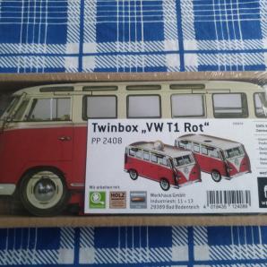 """WERKHAUS Twinbox """"VW T1 Hippie"""""""