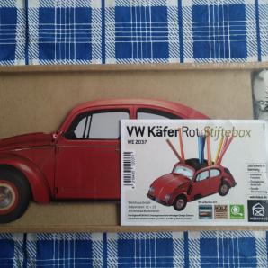 WERKHAUS VW Käfer rot Stiftebox