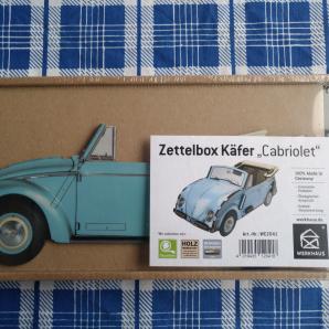WERKHAUS VW Käfer Cabriolet Zettelbox blau
