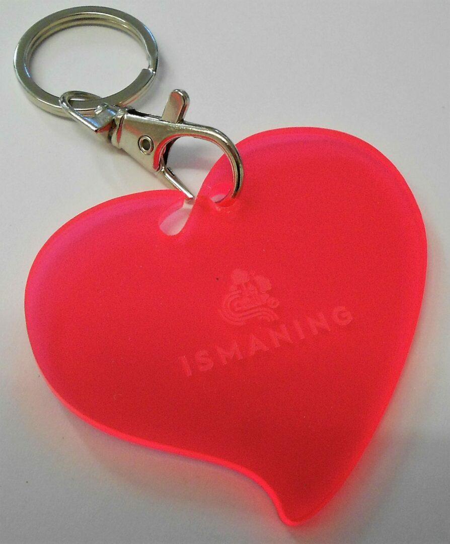 Ismaninger Herz als Schlüsselanhänger