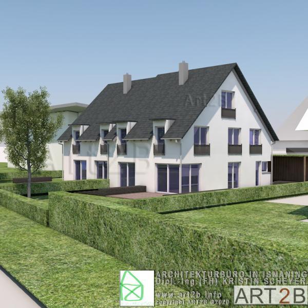Doppelhaus ISY für Ismaning by ART2B Architekturbüro
