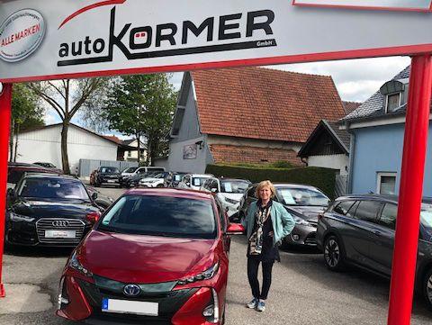 Gratulation Frau Schleich zum neuen Toyota Prius