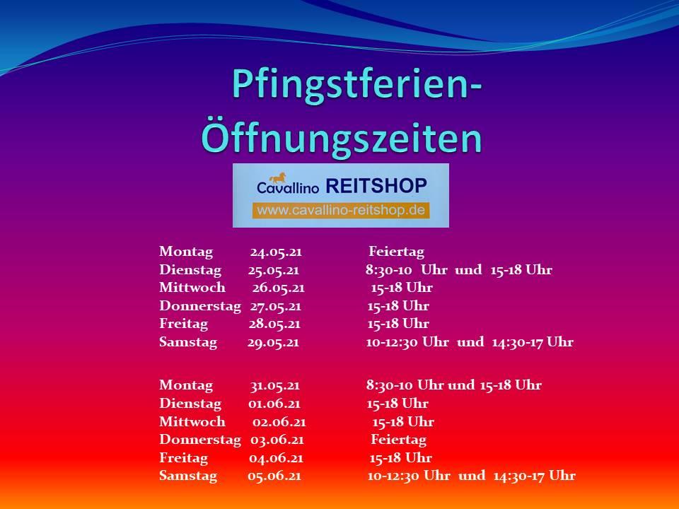 Öffnungszeiten in den Pfingstferien