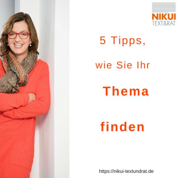 So finden Sie Ihr Newsletter-Thema - 5 Tipps