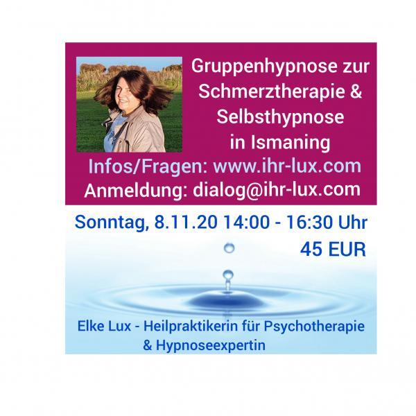 Gruppenhypnose  Schmerztherapie Ismaning 8.11.2020