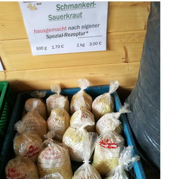 Sauerkraut im Selbstbedienungshofladen