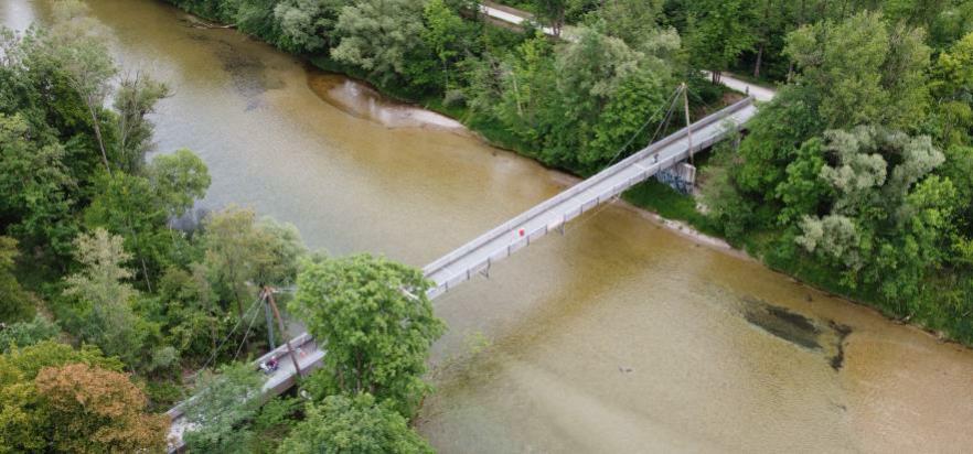 Sanierung der Fuß- und Radwegbrücke über die Isar