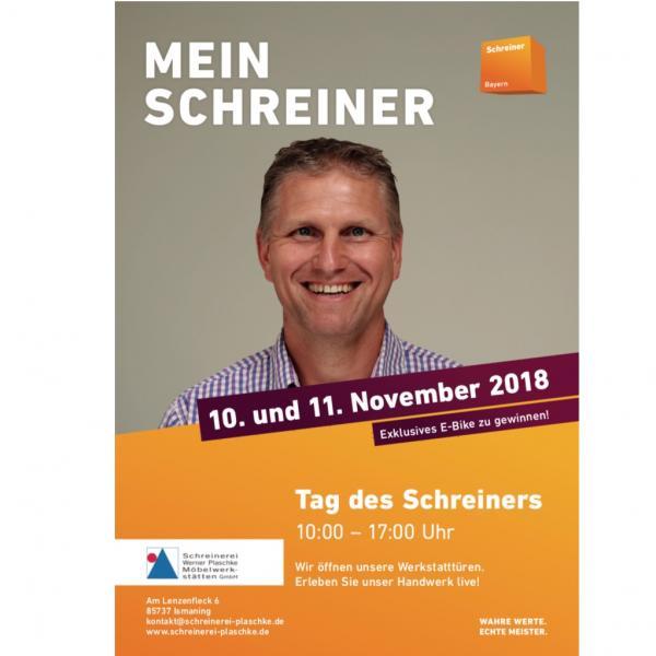 Tag des Schreiners am 10. und 11. November 2018